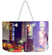 Times Square At Night - Columns Of Light Weekender Tote Bag