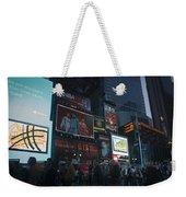 Times Square At Night Weekender Tote Bag