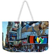 Times Square Energy Weekender Tote Bag