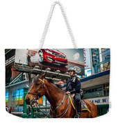 Times Square Horse Power Weekender Tote Bag