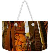 Times Square In Manhattan Weekender Tote Bag