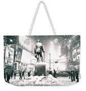Times Square In The Snow - New York City Weekender Tote Bag