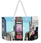 Times Square Nyc Cartoon-style Weekender Tote Bag