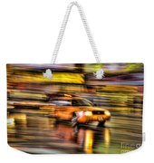Times Square Taxi I Weekender Tote Bag