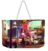 Times Square With Runaway Horse Weekender Tote Bag