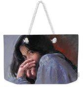 Timid Girl Weekender Tote Bag