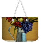 Tin Bouquet And Green Apples Weekender Tote Bag