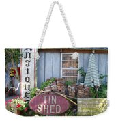 Tin Shed Apalachicola Florida Weekender Tote Bag