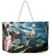 Tintoretto's Christ At The Sea Of Galilee Weekender Tote Bag