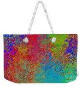 Tiny Blocks Digital Abstract - Bold Colors Weekender Tote Bag