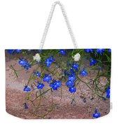 Tiny Blue Flowers Weekender Tote Bag