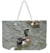 Adorable Tiny Duck Swimming Weekender Tote Bag