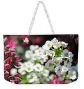Tiny Pink And Tiny White Flowers 2 Weekender Tote Bag