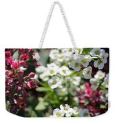 Tiny Pink And Tiny White Flowers Weekender Tote Bag