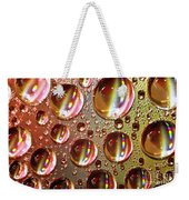 Tiny Water Beads And Spectrum Colors Weekender Tote Bag