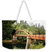 Tioga Bridge Over North Umpqua River Weekender Tote Bag
