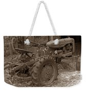 Tired Tractor...... Sepia Weekender Tote Bag