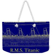 Titanic By Design Weekender Tote Bag