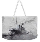 Titanic Leaving Southhampton Weekender Tote Bag
