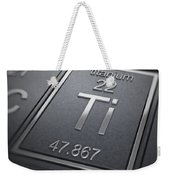 Titanium Chemical Element Weekender Tote Bag