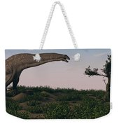 Titanosaurus Standing Grazing In Swamp Weekender Tote Bag