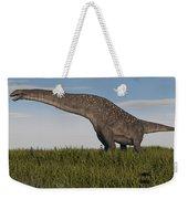 Titanosaurus Standing In Swamp Weekender Tote Bag