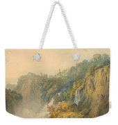 Tivoli With The Temple Of The Sybil And The Cascades Weekender Tote Bag