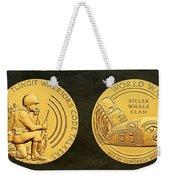 Tlingit Tribe Code Talkers Bronze Medal Art Weekender Tote Bag