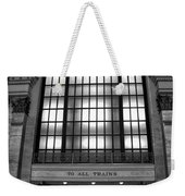 To All Trains Chicago Union Station Weekender Tote Bag