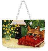To Bee Or Not To Bee Weekender Tote Bag by Karen Zuk Rosenblatt
