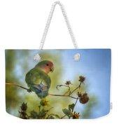 To Love A Lovebird Weekender Tote Bag