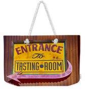 To The Tasting Room Weekender Tote Bag