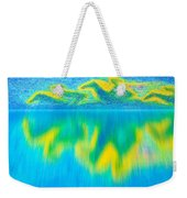 To West  Horses With Reflection Weekender Tote Bag