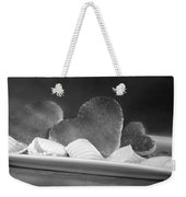 Toast Hearts With Butter Black And White Weekender Tote Bag