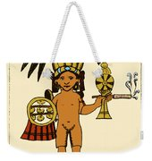Tobacco In Aztec Ritual, Florentine Weekender Tote Bag by Science Source