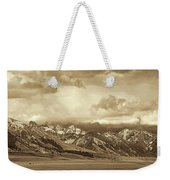 Tobacco Root Mountain Range Montana Sepia Weekender Tote Bag by Jennie Marie Schell