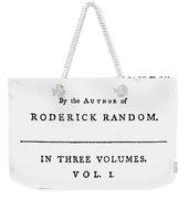 Tobias Smollett Title Page Weekender Tote Bag