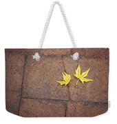 Together Yellow Maple Leaves Weekender Tote Bag