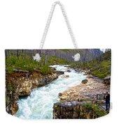 Tokuum Creek Flowing Into Marble Canyon In Kootenay Np-bc Weekender Tote Bag