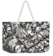 Tokyo City Black And White Weekender Tote Bag