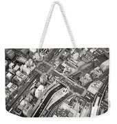 Tokyo Intersection Black And White Weekender Tote Bag