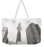Tokyo Skytree In Clouds Weekender Tote Bag