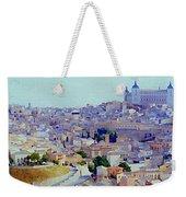 Toledo Spain In Blue Weekender Tote Bag