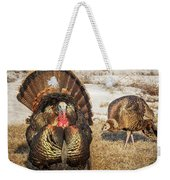 Tom Turkey And Hen Weekender Tote Bag