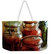 Tomatoes And String Beans In Canning Jars Weekender Tote Bag