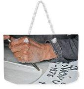 Tombstone Engraver At Work Weekender Tote Bag