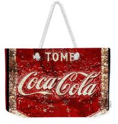 Tome Coca Cola Classic Vintage Rusty Sign Weekender Tote Bag