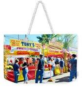 Tonys Concessions Potato Garlic Soup Bread Bowl Weekender Tote Bag