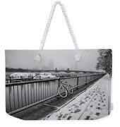 Too Cold To Cycle Weekender Tote Bag