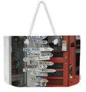 Too Many Choices Weekender Tote Bag